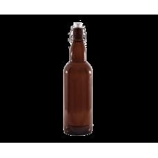 Бутылка бугельная стеклянная  Litva 2 1000 мл. коричневая